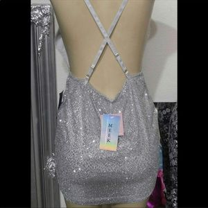 Silver / Sparkling Bodycon dress